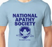 National Apathy Society Blue Unisex T-Shirt