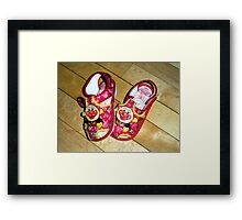 """Kid's Shoes.   Sole Mates!"" Framed Print"