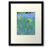 Sister Sunflowers Framed Print
