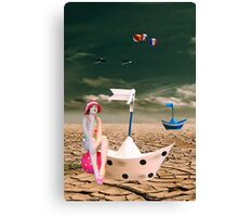 Cracked II - The bathing beauty Canvas Print
