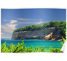 Pictured Rocks National Shoreline / Bridal Falls Poster