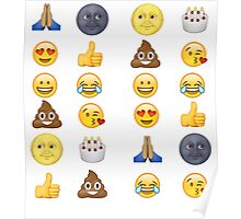 Top emoji collection - poop, smiley face, moon face & friends Poster