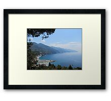 Monterosso Hike, Cinque Terre Italy Framed Print