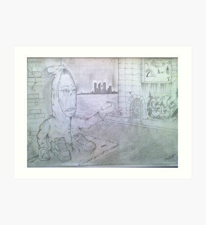 hand man Art Print