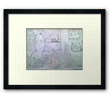 hand man Framed Print