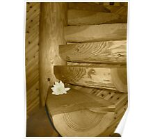 Custom Cabin Stairs Poster