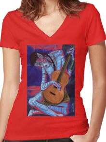 Old Avatarist Tee Women's Fitted V-Neck T-Shirt