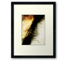 cliff edge.... a kiss Framed Print