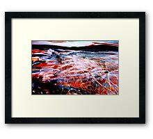 river sea ....spark spray where waters meet Framed Print