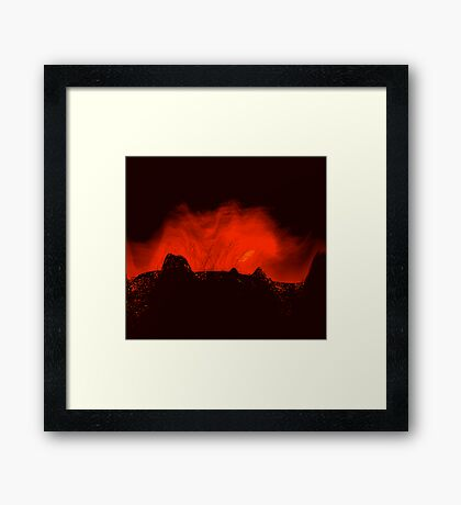 ancient times..... volcano fire  Framed Print