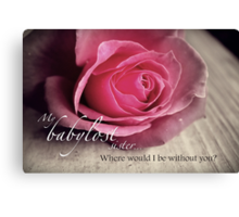 Babylost Sisters -Friendship Canvas Print