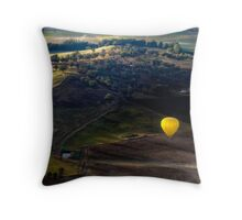 ballooning over Canowindra Throw Pillow