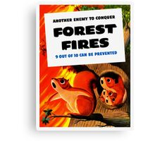Another Enemy To Conquer Forest Fires -- WWII Canvas Print