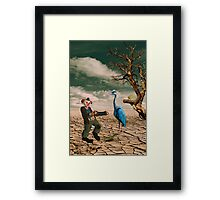 Cracked III - The Clown Framed Print