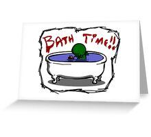 Bathe the elder god!! Greeting Card