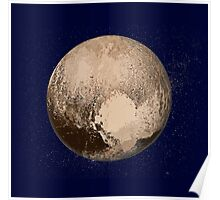 Pluto Painted Poster