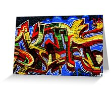 Graffiti 17 Greeting Card