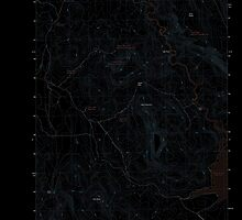 USGS Topo Map Oregon Upton Mountain 20110831 TM Inverted by wetdryvac