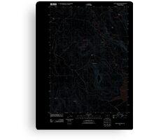 USGS Topo Map Oregon Upton Mountain 20110831 TM Inverted Canvas Print