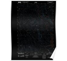 USGS Topo Map Oregon Upton Mountain 20110831 TM Inverted Poster