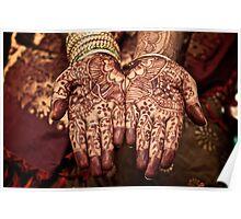 Indian Bride - Mehandi Design Poster