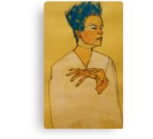 After Egon Schiele (Austria 1890-1918) 'Self Portrait with hands on chest'. 1910 © Canvas Print