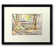 House in the woods 2 Framed Print