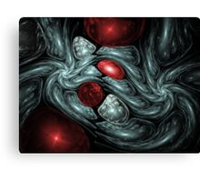 Birth of a Ruby Abstract Fractal Art Canvas Print