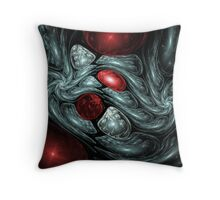 Birth of a Ruby Abstract Fractal Art Throw Pillow
