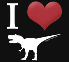 I Heart Dinos One Piece - Short Sleeve