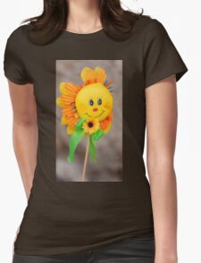 decorative sunflower Womens Fitted T-Shirt