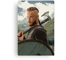 Ragnar Lothbrok Digital Painting Canvas Print