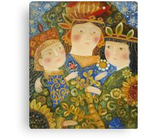 happy family portrait Canvas Print