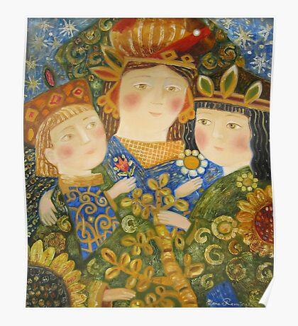 happy family portrait Poster