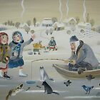 ice fishing by artistelena