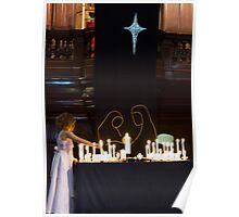 0121  Child with Candles Poster