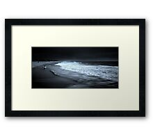 Surfer vs Sea Framed Print