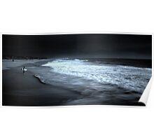 Surfer vs Sea Poster