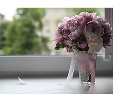 bridal bouquet on the window Photographic Print