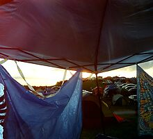 Sunset at Camp by Anna Hill
