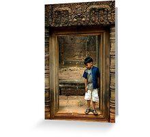 An imaginary friend, Angkor Wat Greeting Card