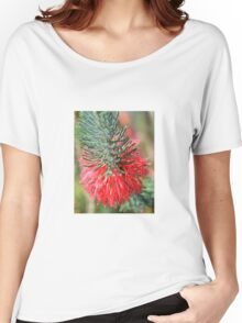 RED BOTTLE BRUSH Women's Relaxed Fit T-Shirt
