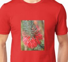 RED BOTTLE BRUSH Unisex T-Shirt
