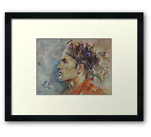 Roger Federer - Portrait 9 Framed Print
