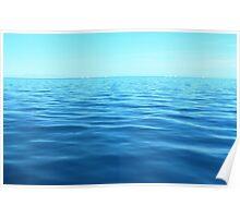 Tiny yachts on the horizon Poster