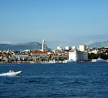 Split Croatia from the sea by John Butterfield