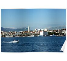 Split Croatia from the sea Poster