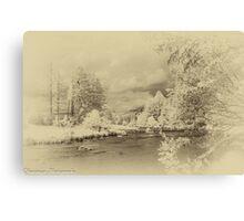 Antique IR - Stroan River Canvas Print