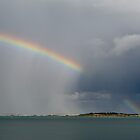 Rain and rainbow, Brittany by Gary Eason + Flight Artworks