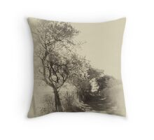 Antique IR - The Country Lane Throw Pillow